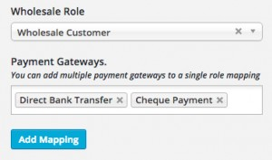Restrict Payment Gateway Selection For Wholesale Customer