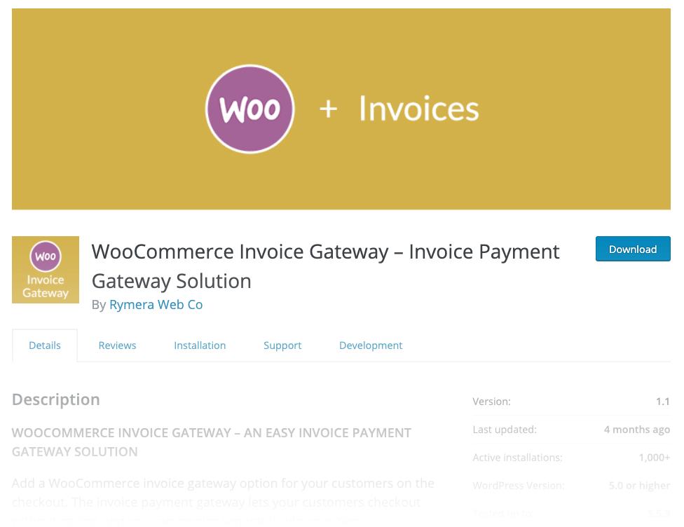 WooCommerce Invoice Gateway Plugin