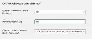 Override global % based discounts per user in WooCommerce