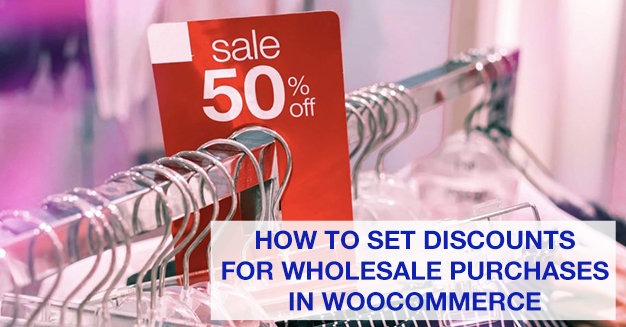 set discounts for wholesale purchases