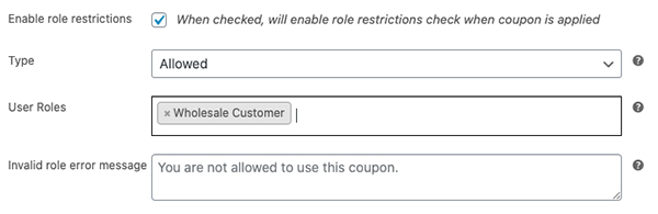 Stopping coupon misuse by wholesalers is as easy as setting the role restrictions