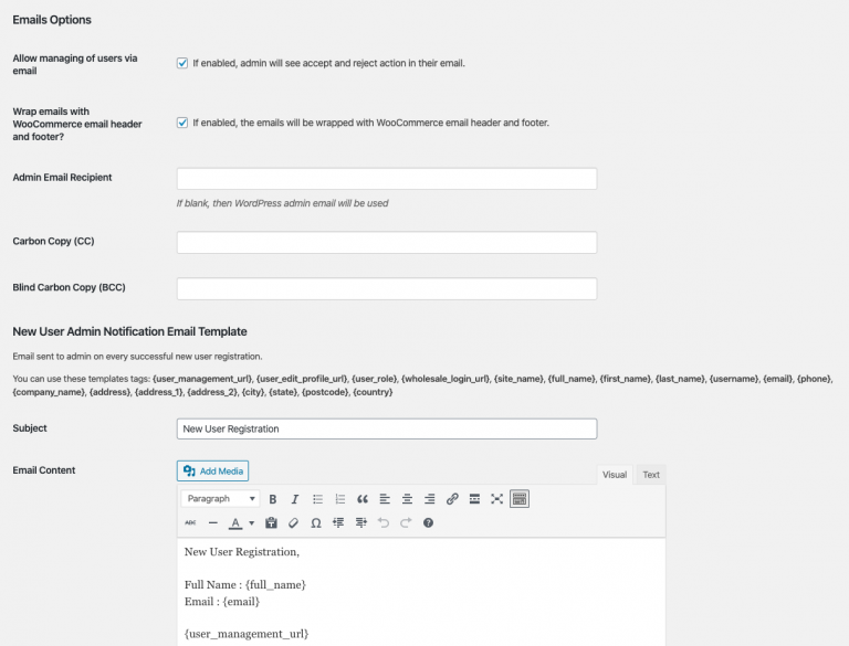 Approval Emails Customization