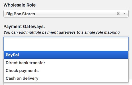 Selecting a payment gateway.