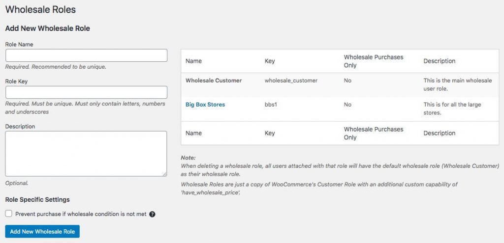 Creating roles for role-based payment options using the Wholesale Suite plugin.