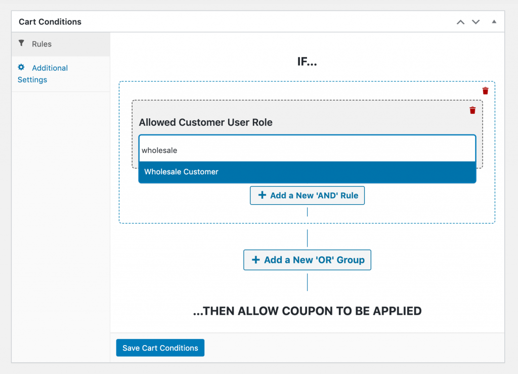 Restricting an Advanced Coupons BOGO deal to wholesale customers.