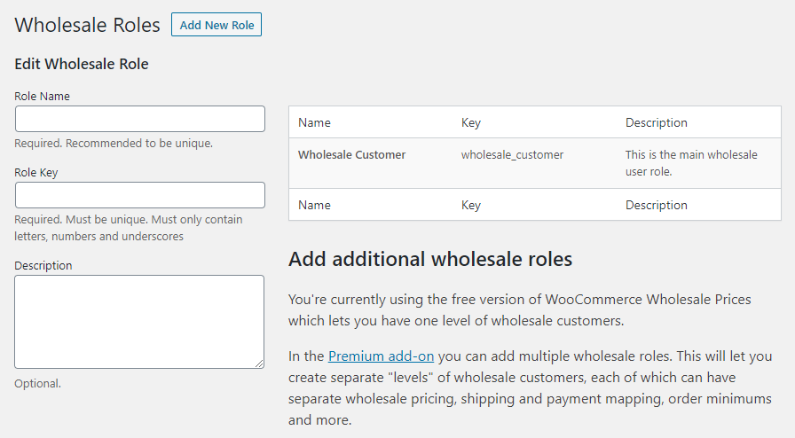 How to change the name of the Wholesale Customer user role.