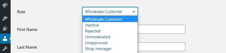 Changing a user's WooCommerce role
