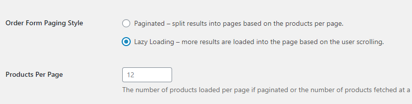 Enabling lazy loading for your wholesale order form
