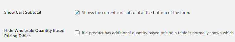 Showing wholesale customers their cart subtotal