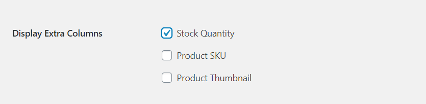 Displaying stock quantity for wholesale products