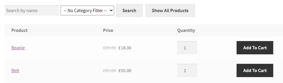 An example of a wholesale order form