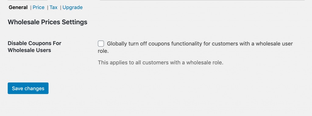 Disabling coupons for wholesale users.