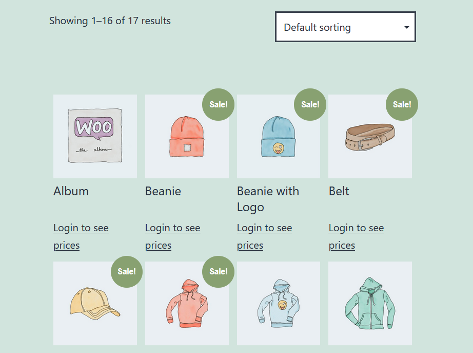 An example of WooCommerce catalog mode