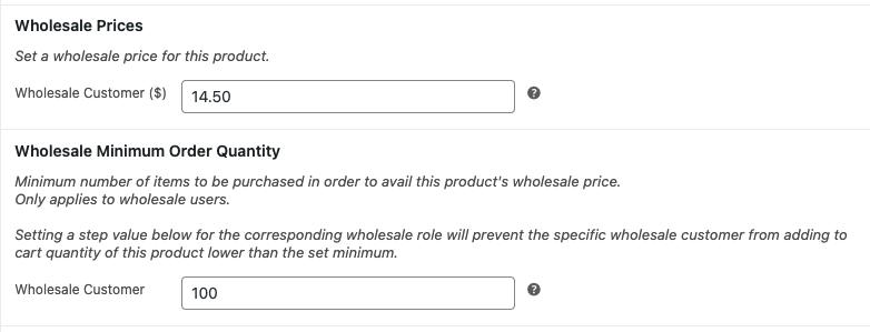 minimum order quantity example