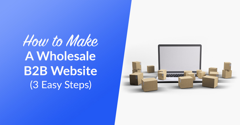 How To Make A Wholesale B2B Website (3 Easy Steps)