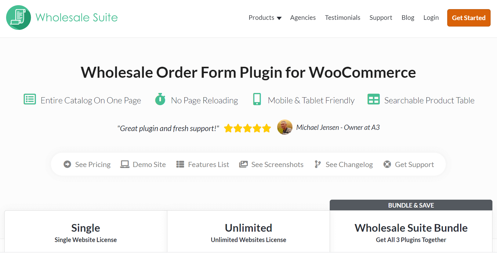Wholesale Suite Order Form plugin homepage