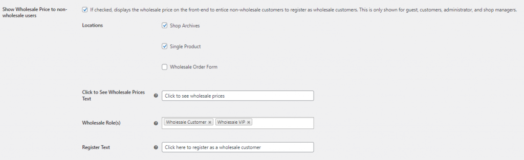 Show wholesale prices to non-wholesale all options unlocked