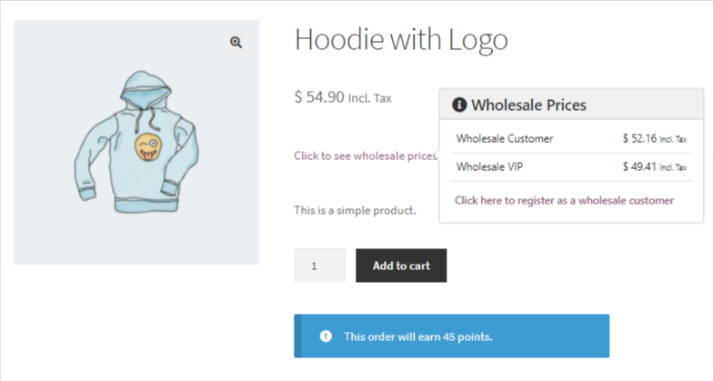 Show wholesale prices to non-wholesale customers front end